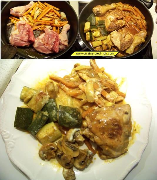 poulet au curry et aux légumes
