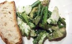 morue aux asperges et artichauts