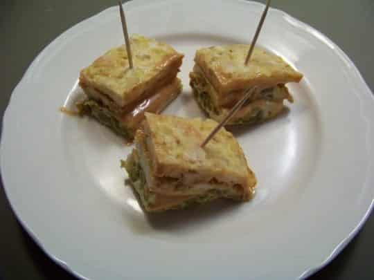 tortilla à 3 étages