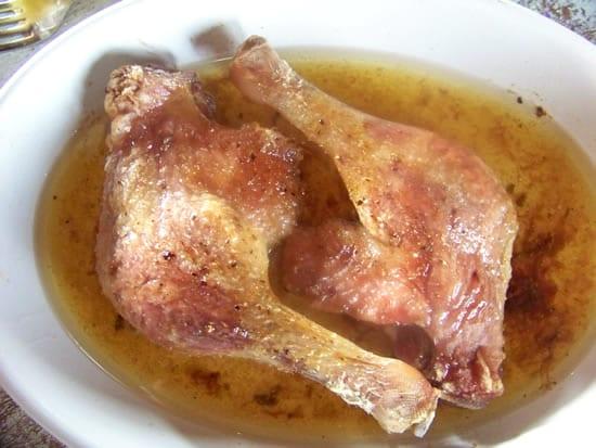 cuisse de canard cuite au four