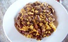 riz aux haricots