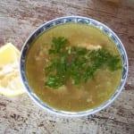 chorba beida la soupe blanche au poulet d'Alger