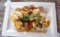 poulet express au basilic, olives et citronac