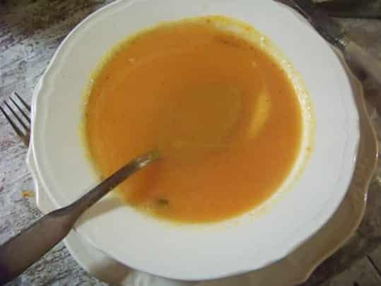 soupe presque crue aux légumes
