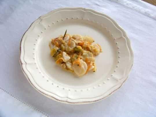 Coquilles Saint-Jacques aux légumes