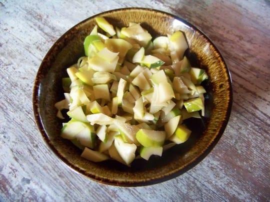 salade de pousses de bambou fraîches