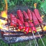 Mettre les poivrons directement dans la flamme !