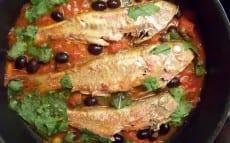 rougets à la tomate olives et roquette