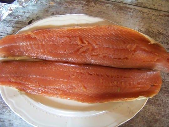 saumon fumé maison