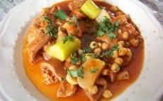 Douara : tripes à la tomate, navets et pois chiches