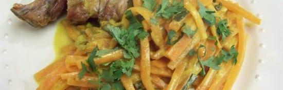 carottes au lait de coco, pistaches, safran et cardamome