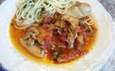 poulet, porc et chorizo à la frita