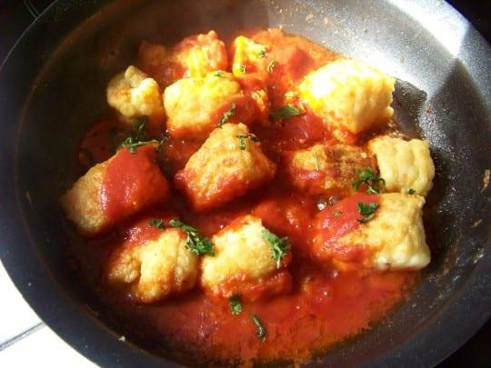 recette des filets de julienne en sauce au piment