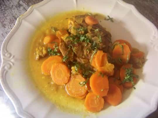 Recette du ragoût d'agneau aux carottes façon curry
