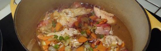 Filets de poulet au jambon sec