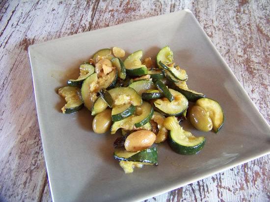 salade de courgettes aux olives