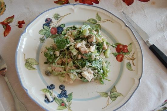 Salade de dinde a la roquette