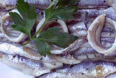 Anchois marinés au citron