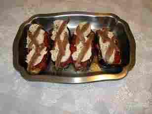 Aubergines farcies tomates et mozzarella