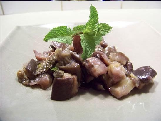 aubergines aigres-douces à la menthe