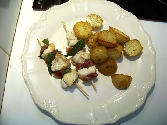 Brochettes de lotte au jambon serrano – la recette
