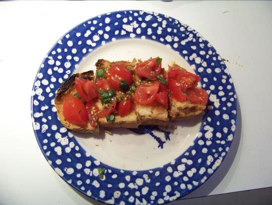 bruschettas – recette avec tomate et basilic