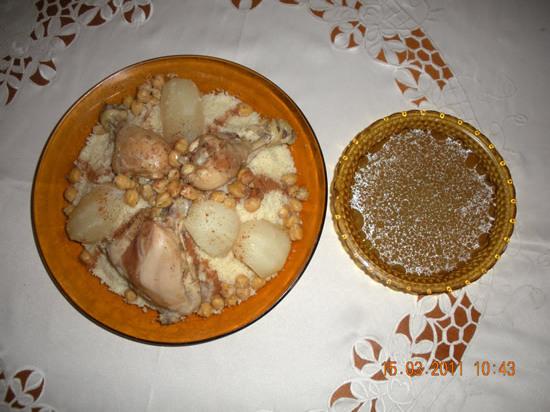 couscous au poulet sauce blanche algérois