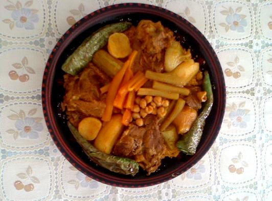 couscous à l'agneau – recette de Saida