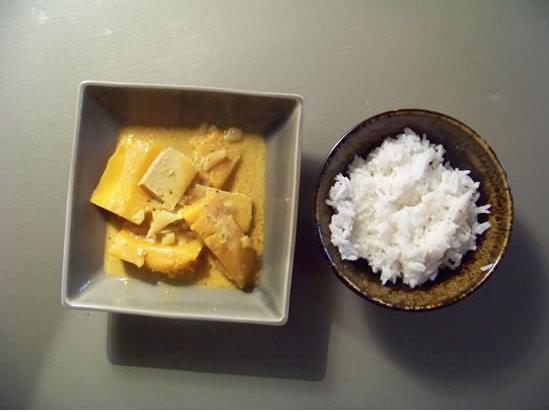 curry végétarien de tofu et courge