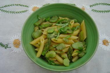Pasta aux asperges et fèves (Italie)