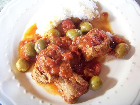 épaule de veau aux olives