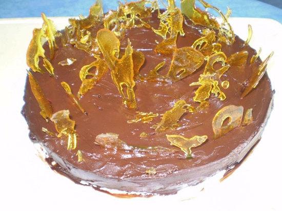 Gâteau au chocolat et  crème caramel