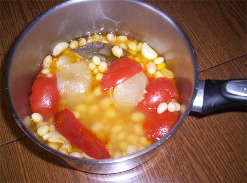 haricots mi-secs à la tomate
