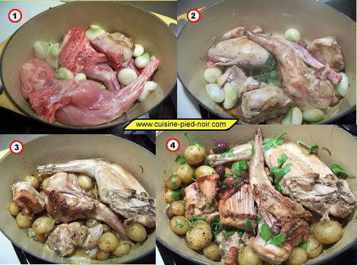 lapin de printemps aux oignons pommes de terre et ail nouveaux