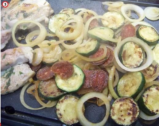 legumes au chorizo à la plancha