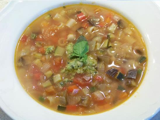 Minestrone : la soupe de légumes au pesto – la recette