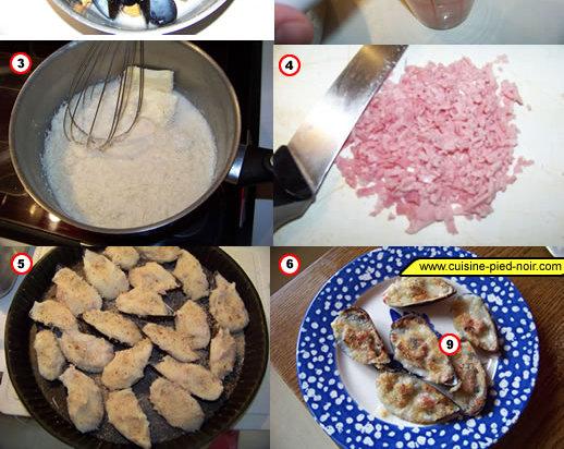 moules gratinées au parmesan