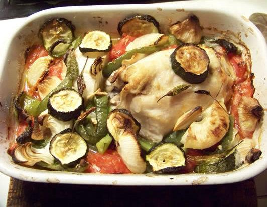 Poisson au four aux l gumes - Recette legumes grilles au four ...