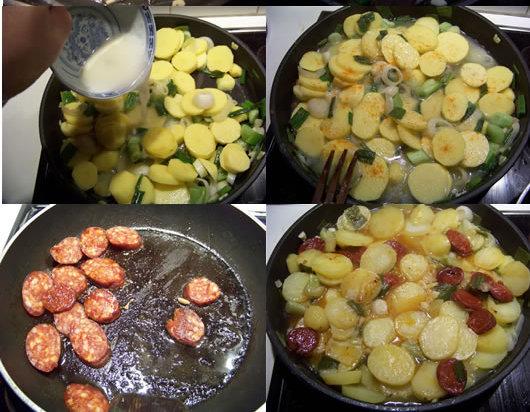 Pommes de terre au chorizo