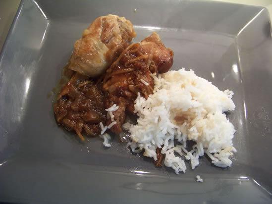 poulet braisé au gingembre et saveurs japonaises