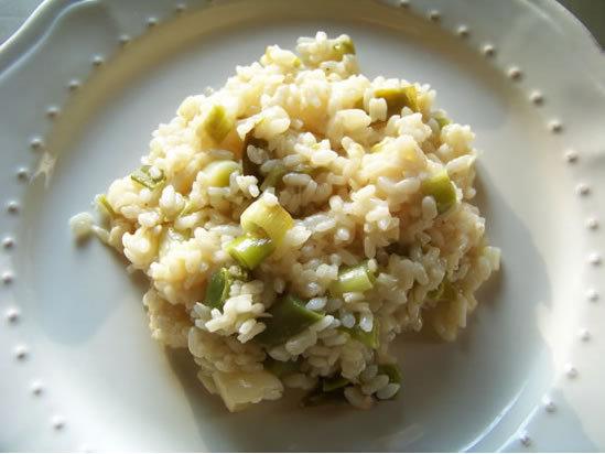 risotto aux poireaux