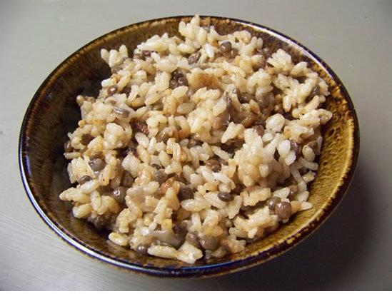 riz aux lentilles