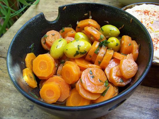 salade de carottes à l'escabêche