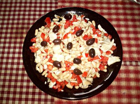 Salade de morue aux haricots