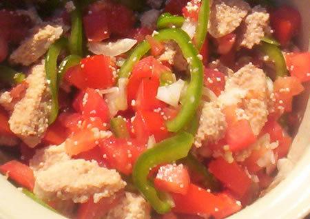 salade aux oeufs de poisson