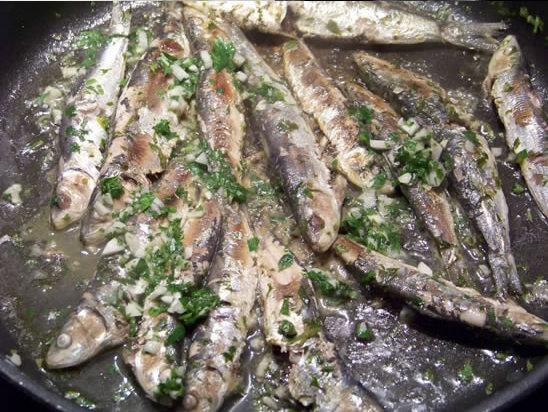 sardines marinées et grillées
