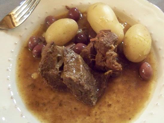tajine de boeuf aux olives et citron confit