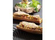 recette de Rougets et ratatouille à la menthe sur toasts