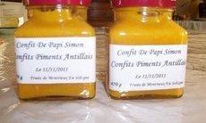 recette de Confits Piments Antillais