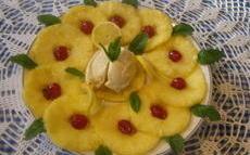 recette de Carpaccio  d'ananas